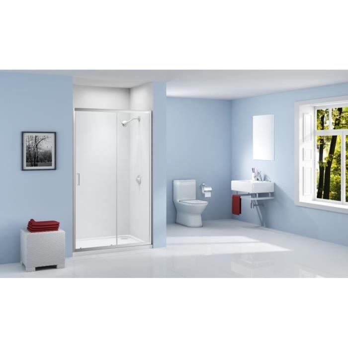 Paroi de douche porte coulissante 100 x 190 achat vente cabine de douche - Porte coulissante douche 100 ...