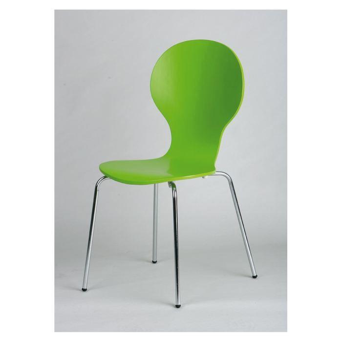 Lot de 4 chaises copenhague couleur vert achat vente - Chaises de couleur ...