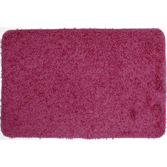 tapis de bain shaggy rose achat vente tapis de bain. Black Bedroom Furniture Sets. Home Design Ideas