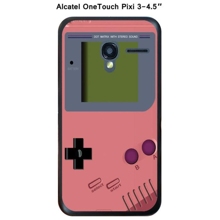coque alcatel onetouch pixi 3 4 5 game boy strawberry ice achat housse tui pas cher. Black Bedroom Furniture Sets. Home Design Ideas