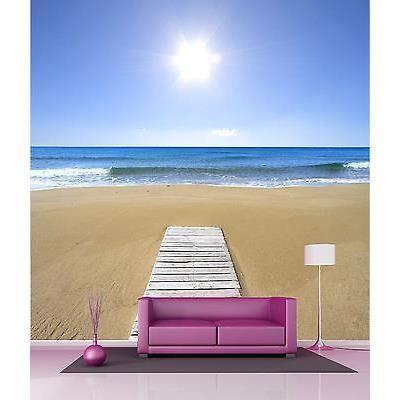 papier peint g ant d coration murale sable plage r f 4540 dimensions 250x250cm achat vente. Black Bedroom Furniture Sets. Home Design Ideas