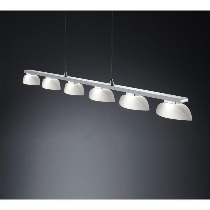 suspension longue 120 cm 6 led en aluminium et achat vente suspension longue 120 cm 6. Black Bedroom Furniture Sets. Home Design Ideas
