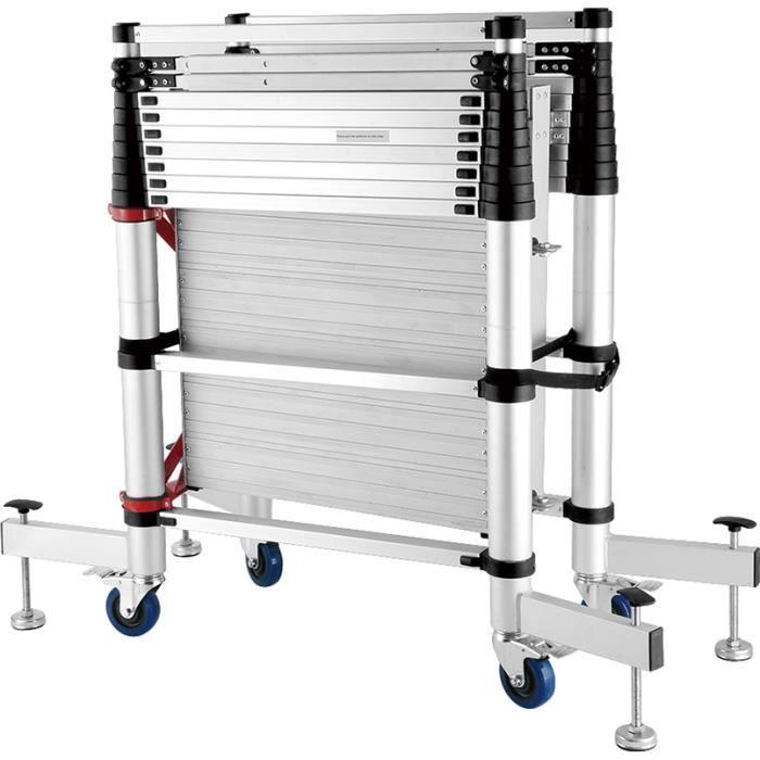 echafaudage telescopique roulant repliable aluminium 300 x 145 x 91cm achat vente. Black Bedroom Furniture Sets. Home Design Ideas