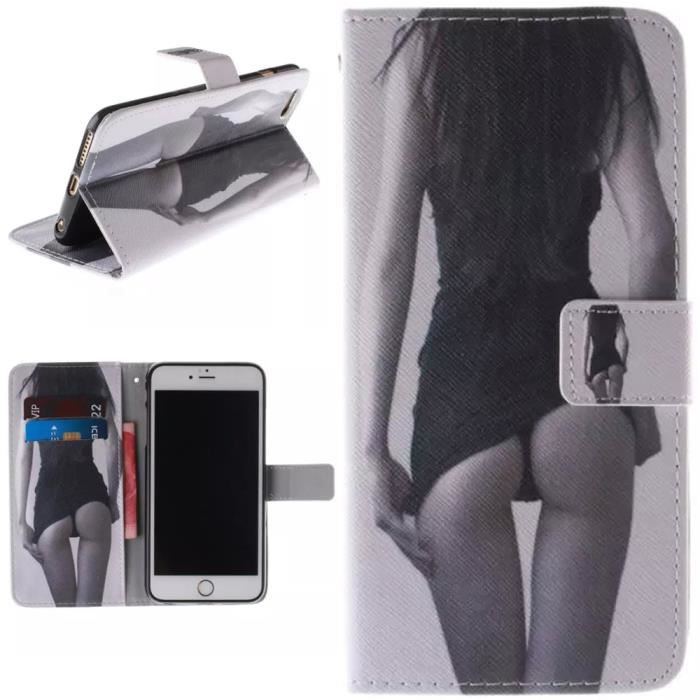 pour iphone 6 plus coque iphone 6s plus coque 5 5 pouce sexy fille tui rabat magnetique. Black Bedroom Furniture Sets. Home Design Ideas