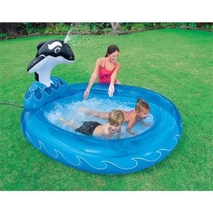 Piscine enfant avec jet d 39 eau dauphin achat vente kit for Piscine enfant