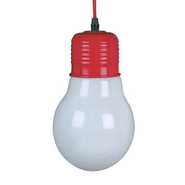 Lampe ampoule suspendre rouge achat vente lampe for Lampe a suspendre