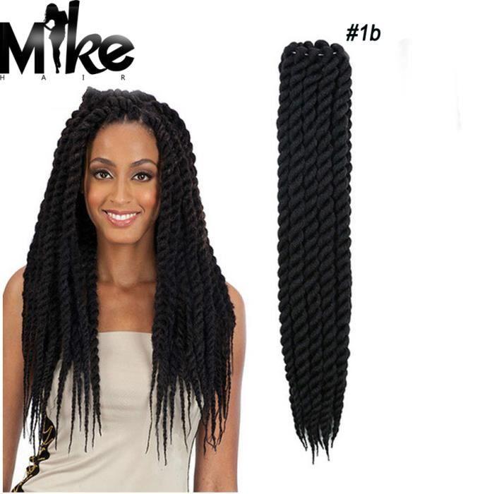 1 piece tissages havana mambo crochet braid twist cheveux couleur 1b 22 pouces 55cm achat. Black Bedroom Furniture Sets. Home Design Ideas