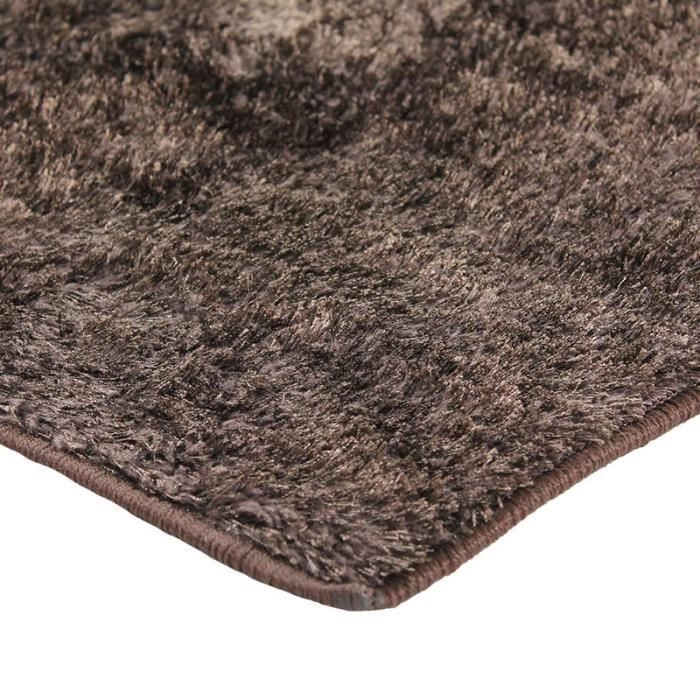 Tapis briliant shaggy 120x170 marron achat vente tapis les soldes sur - Tapis shaggy 120x170 ...