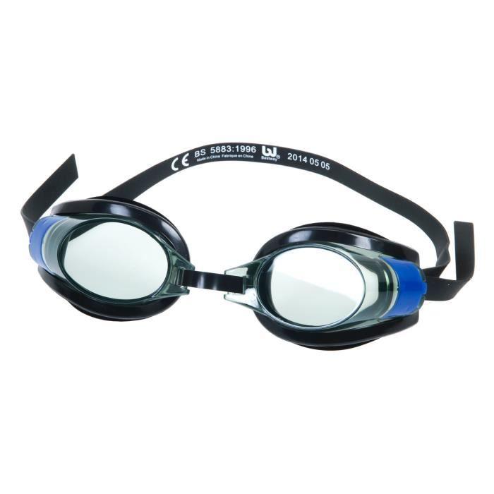 Lunette natation piscine pro racer goggle bleu achat for Lunette piscine