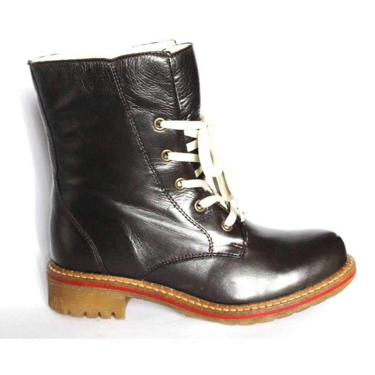 bottines femme cuir noir chaussure fourree mode hiver femme t 39 neuves noir noir achat. Black Bedroom Furniture Sets. Home Design Ideas