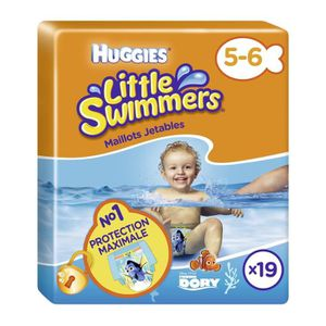 COUCHE HUGGIES Maxi Pack Little Swimmers - Taille 5/6 - 1