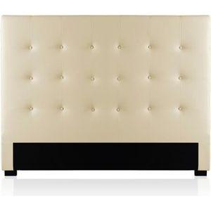 tete de lit capitonnee beige achat vente tete de lit capitonnee beige pas cher cdiscount. Black Bedroom Furniture Sets. Home Design Ideas