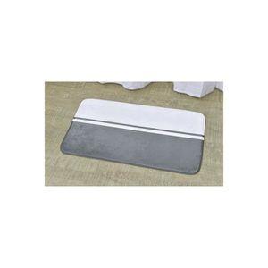 Tapis salle de bains gris achat vente tapis salle de for Tapis de salle de bain gris