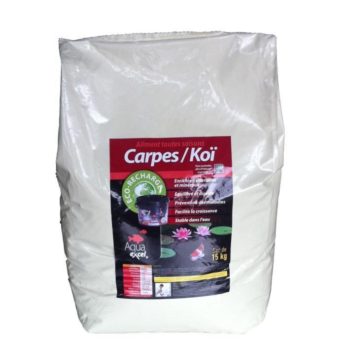 Eco recharge aqua excel koi 15kg achat vente flocons for Recherche carpe koi donner