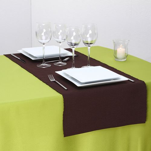 Chemin de table c tel l 150 cm chocolat achat for Chemin de table beige