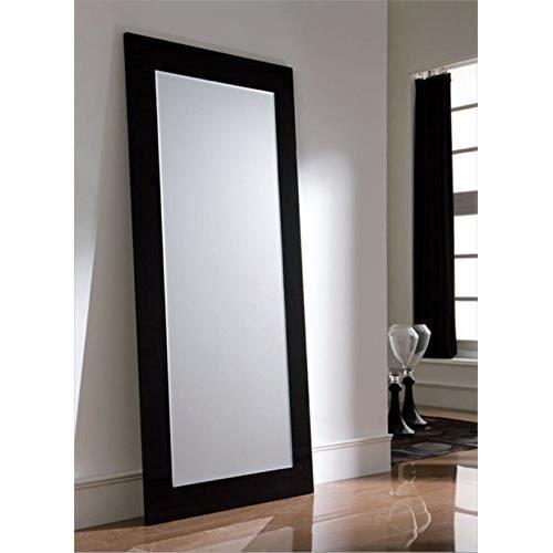 Moderne miroir dressing laque noire achat vente for Miroir biseaute sans cadre