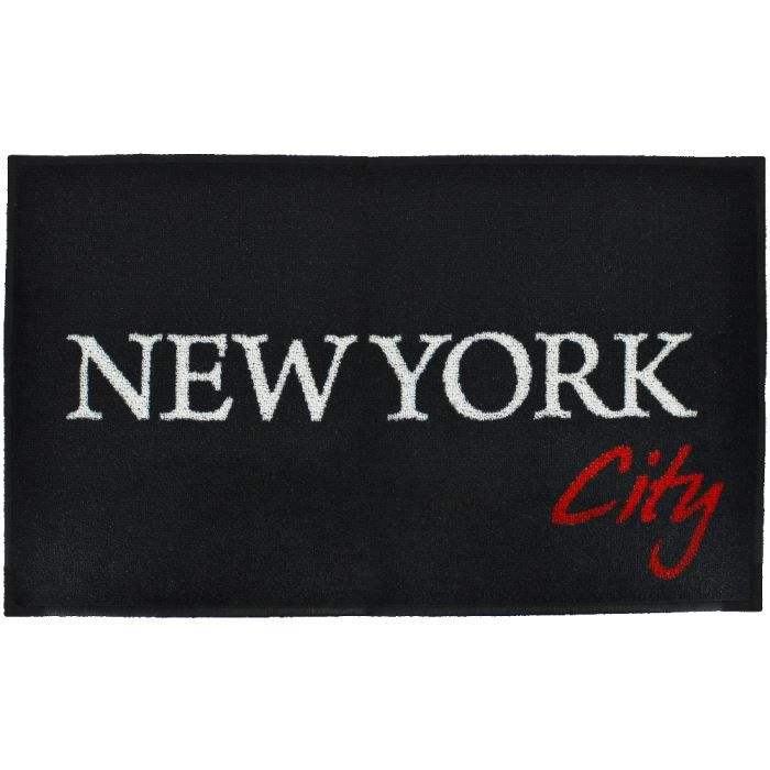 Tapis design imprim tag new york city 50x80cm achat - Tapis chambre new york ...