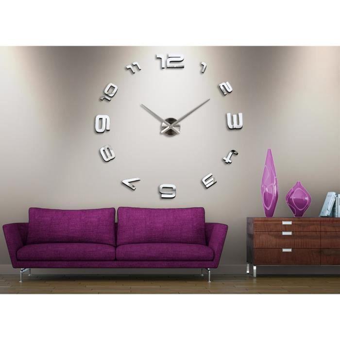 Horloge murale 3d design 1m achat vente horloge for Horloge numerique murale design