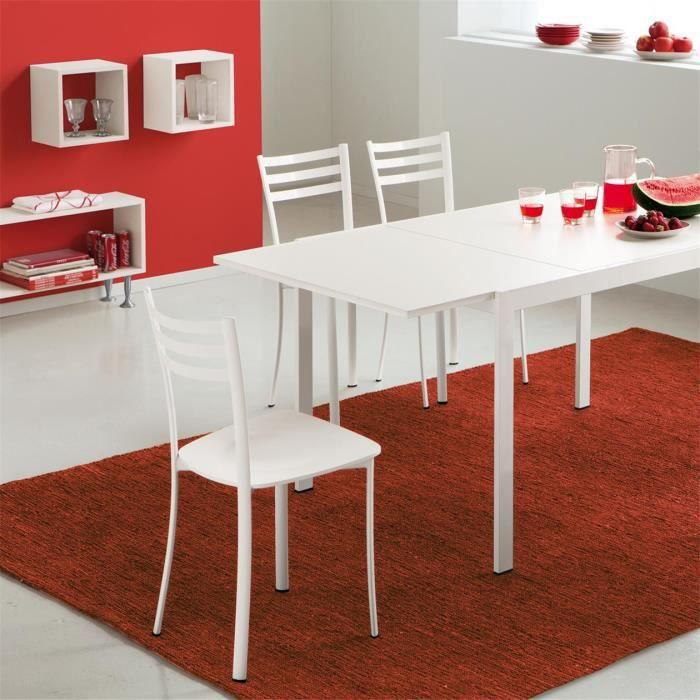 chaise de cuisine gris alu et blanc louise achat vente chaise epoxy synth tique cdiscount. Black Bedroom Furniture Sets. Home Design Ideas