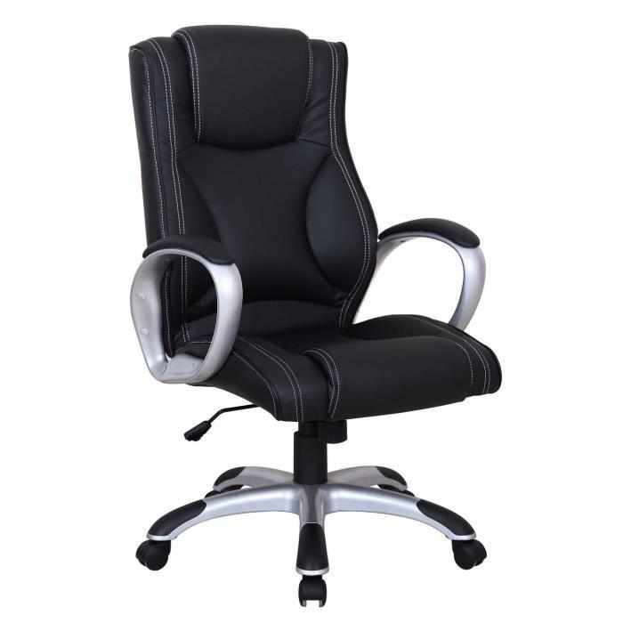 Fauteuil de bureau design et confortable coloris noir achat vente chaise - Fauteuil de bureau confortable ...