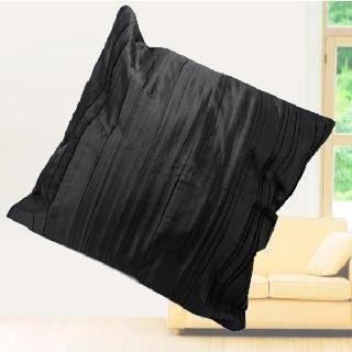 taie couverture housse d 39 oreiller carr coussin noir. Black Bedroom Furniture Sets. Home Design Ideas
