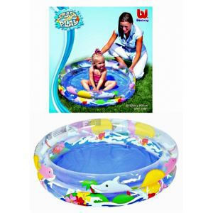 Piscine gonflable 2 boudins 102cmx20cm d cor dauphin for Achat piscine gonflable