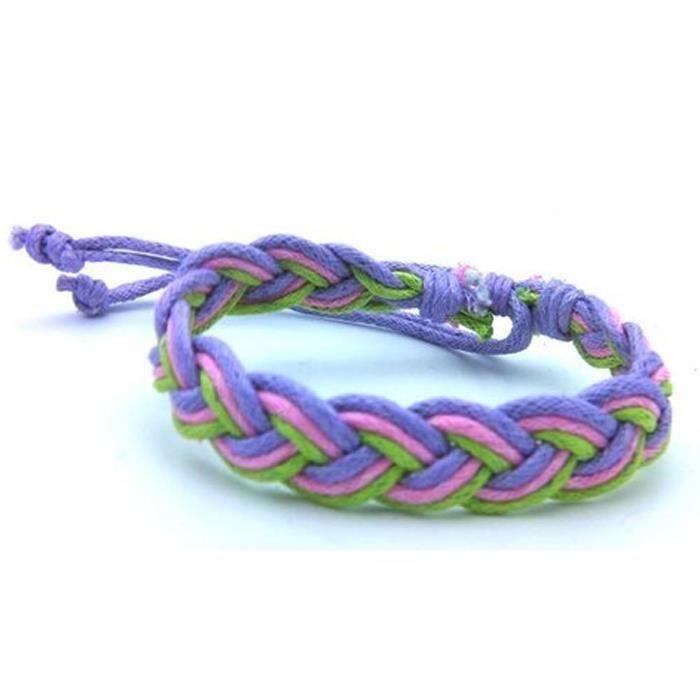 bracelet marin homme tresse tissu violet surf achat. Black Bedroom Furniture Sets. Home Design Ideas