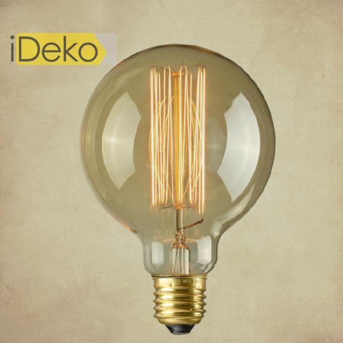 Ideko ampoule e27 40w lampe incandescence art design antique unique industriel idam 2799 - La lampe a incandescence ...