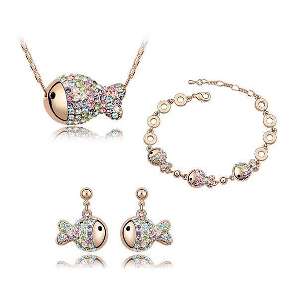 bijoux femme parure en forme poisson en cristal achat With parure bijoux femme