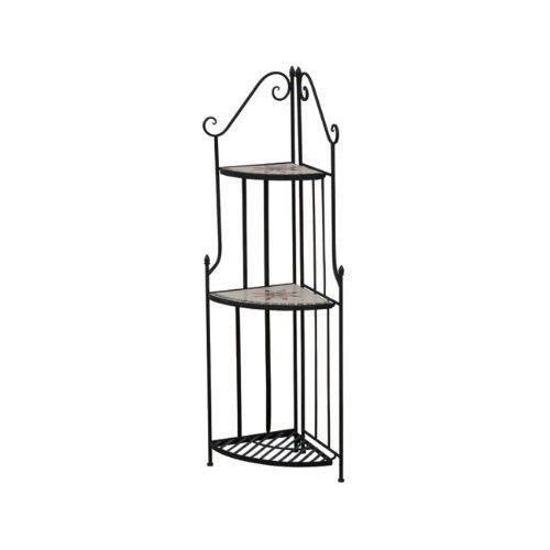 siena garden 875334 stella etag re d 39 angle 3 planches acier noir aspect mosa que achat. Black Bedroom Furniture Sets. Home Design Ideas