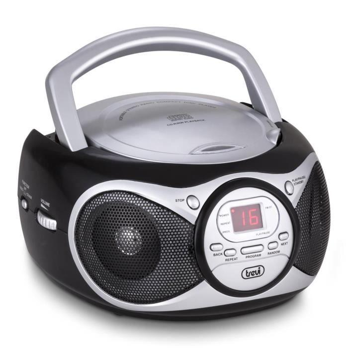 trevi cd 512 lecteur cd mp3 radio fm am aux noir chaine. Black Bedroom Furniture Sets. Home Design Ideas