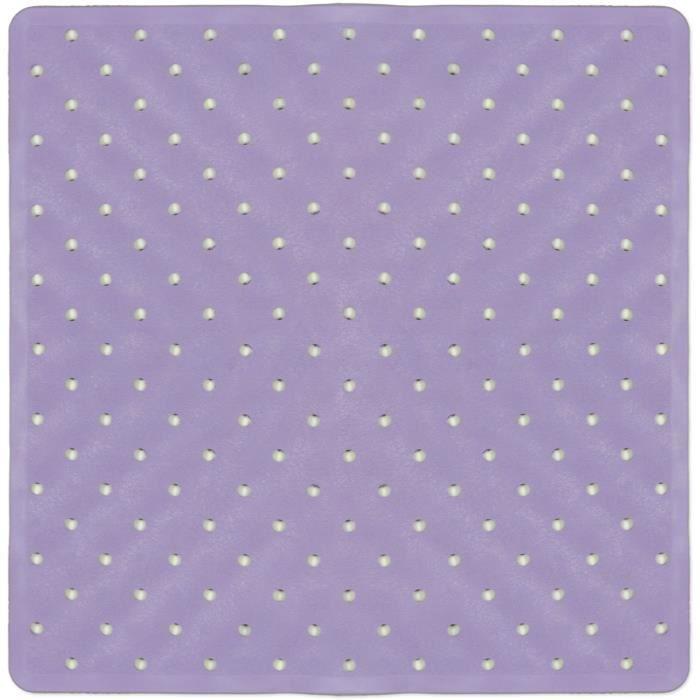 tapis de bain fond de douche violet achat vente tapis de bain cdiscount. Black Bedroom Furniture Sets. Home Design Ideas