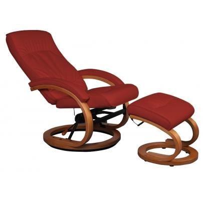 Fauteuil de relaxation massant indigo cuir rouge achat vente appareil d - Fauteuil relax cuir rouge ...
