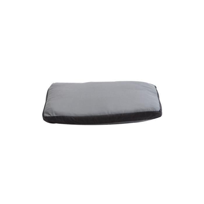 coussin bicolore d houssable noir et gris 44x33cm achat. Black Bedroom Furniture Sets. Home Design Ideas