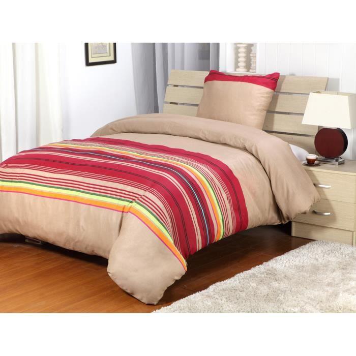 housse de couette marsala 1 place collection eden achat vente housse de couette. Black Bedroom Furniture Sets. Home Design Ideas