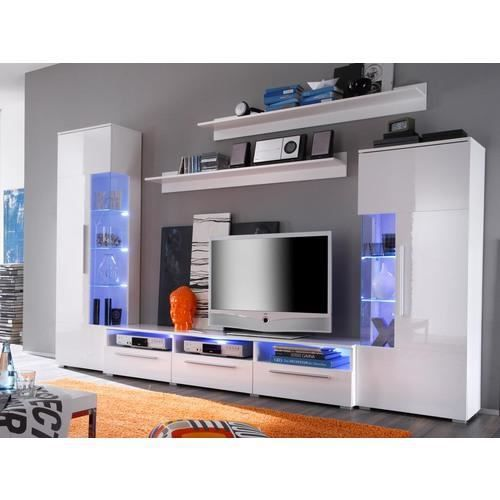 mur tv donna white achat vente meuble tv mur tv donna white soldes cdiscount. Black Bedroom Furniture Sets. Home Design Ideas