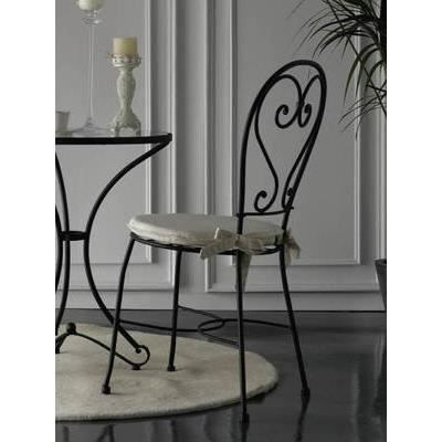 Chaise cordoba achat vente chaise fer forg tissu for Chaise longue fer forge occasion
