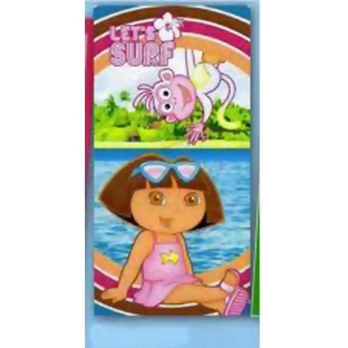 Dora l 39 exploratrice drap de plage let 39 s surf achat - Dora a la plage ...