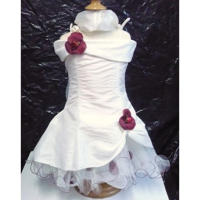 robe ceremonie fille natacha blanche 6 m ecru beige achat vente robe de c r monie. Black Bedroom Furniture Sets. Home Design Ideas