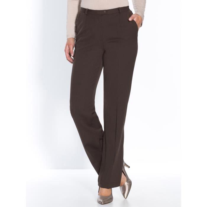 Pantalon coupe droite femme chocolat achat vente pantalon cdiscount - Pantalon coupe droite femme ...