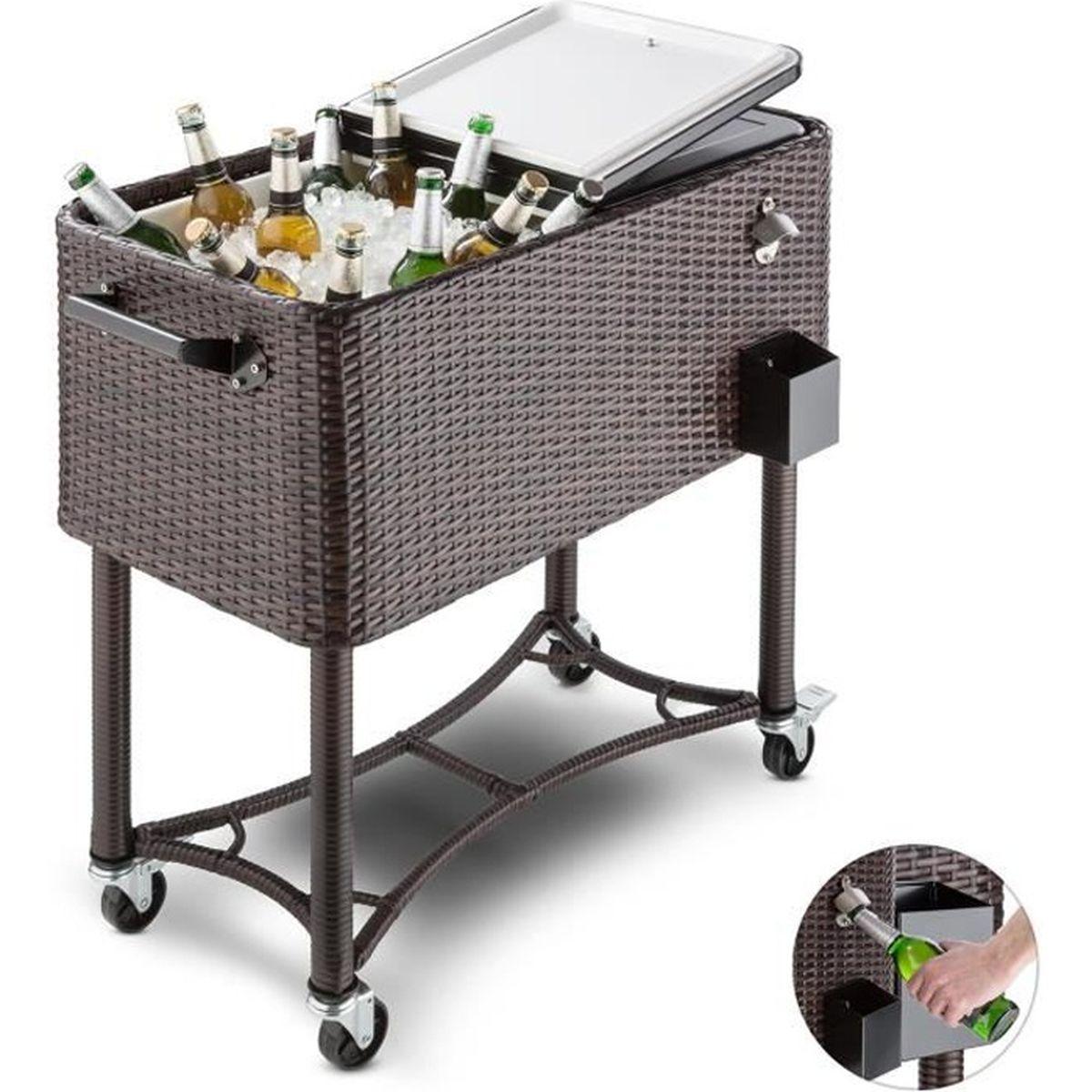 blumfeldt springbreak chariot bar glaci re frigorifique de terrasse 80l rotin achat vente. Black Bedroom Furniture Sets. Home Design Ideas