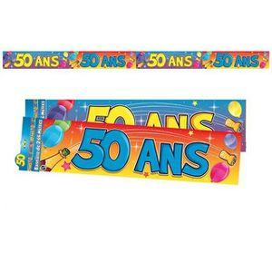 BANDEROLE - BANNIÈRE Bannière anniversaire 50ans (x1) REF/BAN06