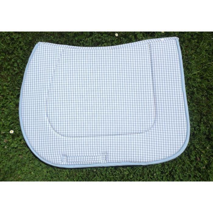 tapis de selle vichy bleu poney prix pas cher cdiscount. Black Bedroom Furniture Sets. Home Design Ideas