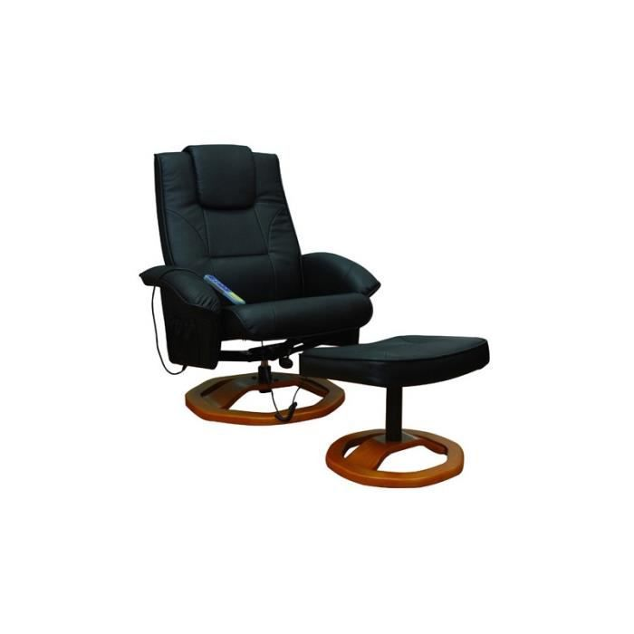 Fauteuil de massage confort relaxant massage chauffage massant d tente noir 1 - Fauteuils de massage ...