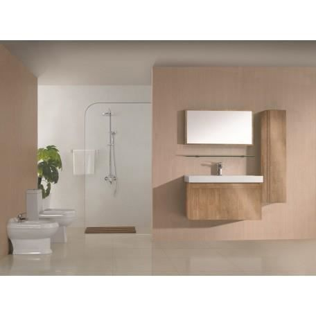 Sd700bn meuble salle de bain coloris bois naturel achat - Meuble salle de bain bois massif naturel ...