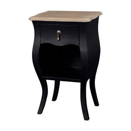 chevet 1 tiroir noir achat vente chevet chevet 1 tiroir noir acrylique bois ch ne m tal. Black Bedroom Furniture Sets. Home Design Ideas