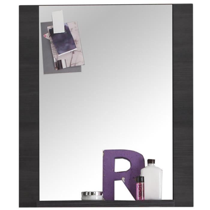 Miroir rectangulaire pour salle de bain coloris fr ne gris for Miroir salle de bain sur mesure