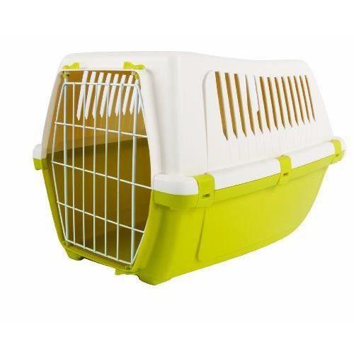 mp bergamo vision free 55 cage en plastique pour chien vert printemps achat vente cage mp. Black Bedroom Furniture Sets. Home Design Ideas