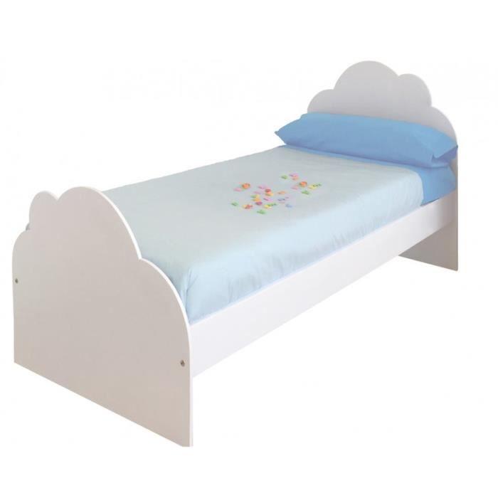 lit enfant nuage achat vente lit enfant nuage pas cher cdiscount. Black Bedroom Furniture Sets. Home Design Ideas