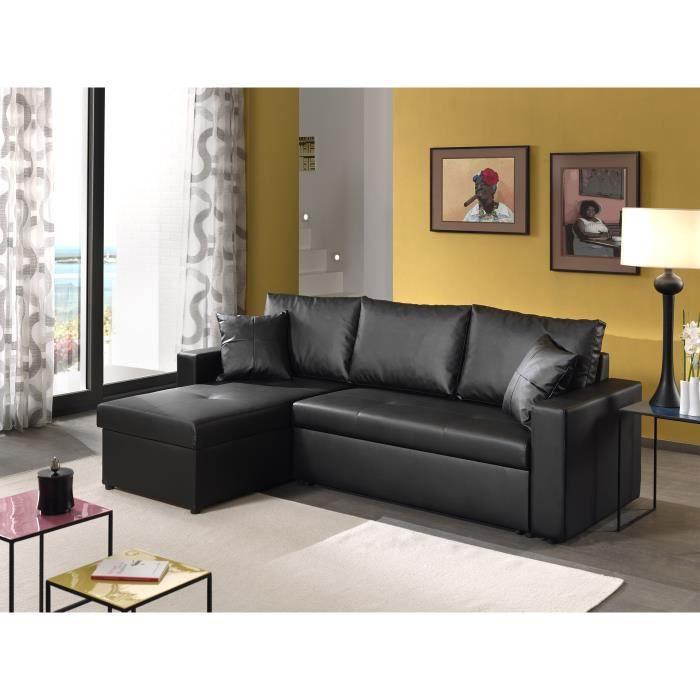 dublin canap d angle r versible convertible achat vente canap sofa divan cdiscount. Black Bedroom Furniture Sets. Home Design Ideas